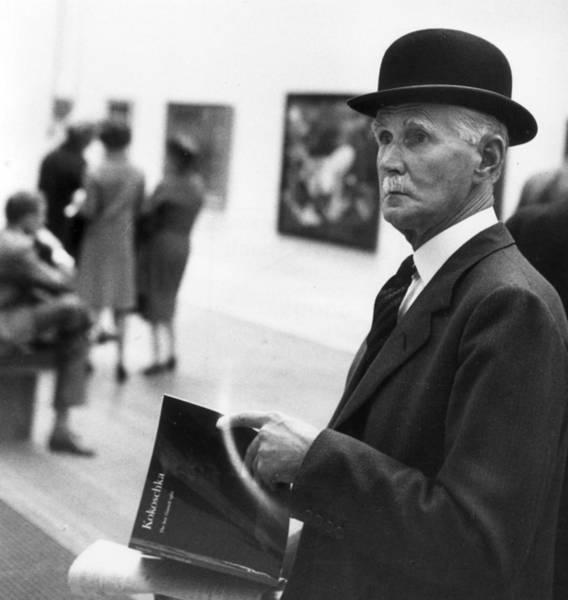 Publication Photograph - Art Critic by Erich Auerbach