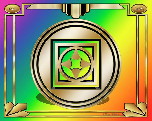 Digital Art - Art Deco Designs 2020 3d by Chuck Staley
