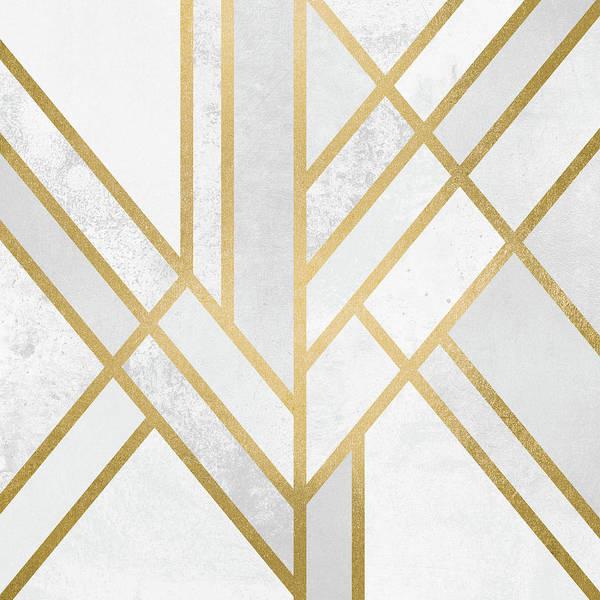 Wall Art - Digital Art - Art Deco Gold by Elisabeth Fredriksson
