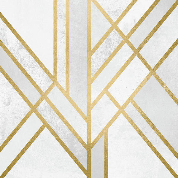 Geometry Digital Art - Art Deco Gold by Elisabeth Fredriksson