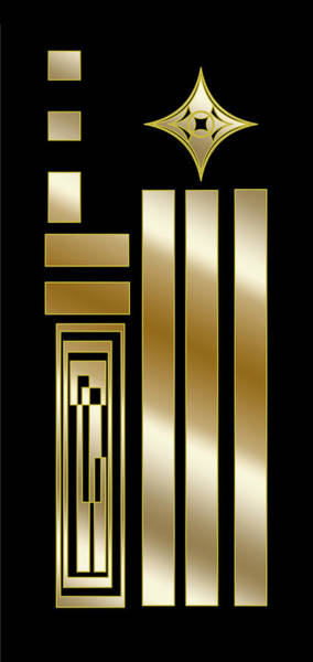 Digital Art - Art Deco Panel 1 V by Chuck Staley