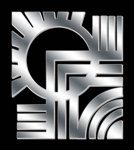 Digital Art - Art Deco Silver Design 1 by Chuck Staley