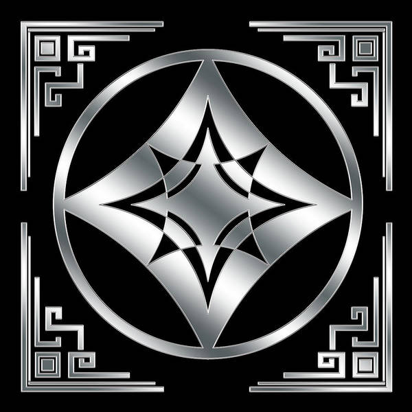 Digital Art - Art Deco Silver Design 3 by Chuck Staley