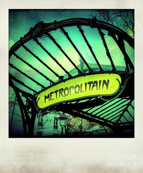 Wall Art - Photograph - Art Deco Subway Entrance By , Paris by Bernard Jaubert