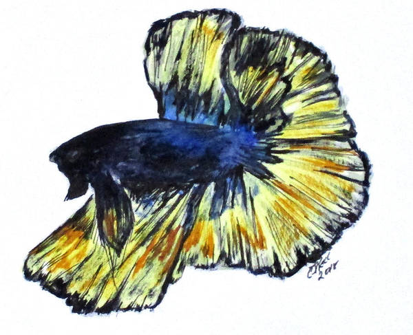 Painting - Art Doodle No.34 Betta Fish by Clyde J Kell
