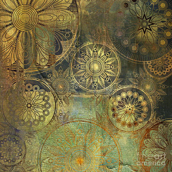 Wall Art - Photograph - Art Grunge Stylized Damask Floral by Irina qqq