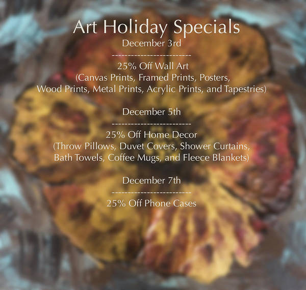 Wall Art - Photograph - Art Holiday Specials by Iris Richardson