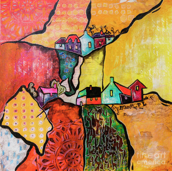 Mixed Media - Art Land 4 by Ariadna De Raadt