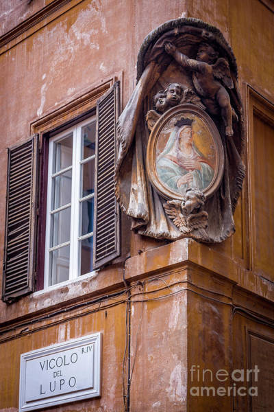 Photograph - Art Medallion On Vicolo Di Lupo - Rome by Brian Jannsen