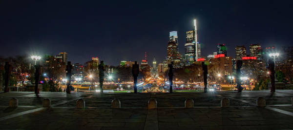 Wall Art - Photograph - Art Museum View Of Parkway At Night by Bill Cannon
