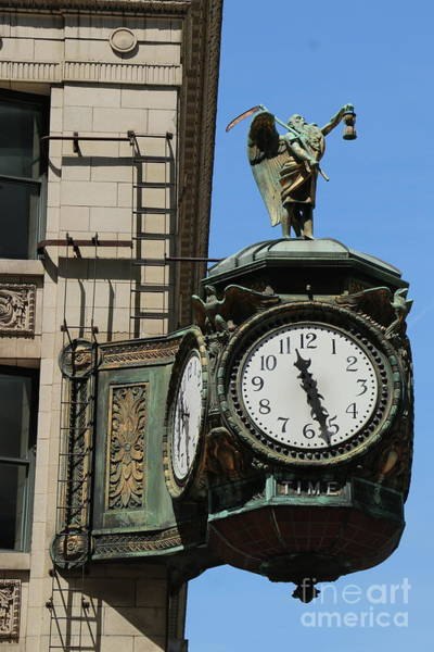 Wall Art - Photograph - Art Nouveau Clock At Jeweler Building Chicago by Christiane Schulze Art And Photography