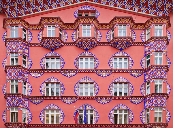 Ljubljana Wall Art - Photograph - Art Nouveau Facade, Ljubljana, Slovenia by Guy Edwardes