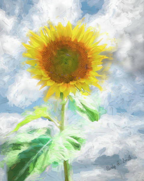 Digital Art - Art Photograph Of A Single Sunflower. by Rusty R Smith