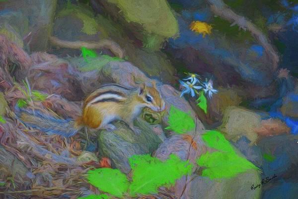 Digital Art - Art Photograph Of Eastern Chipmunk. by Rusty R Smith