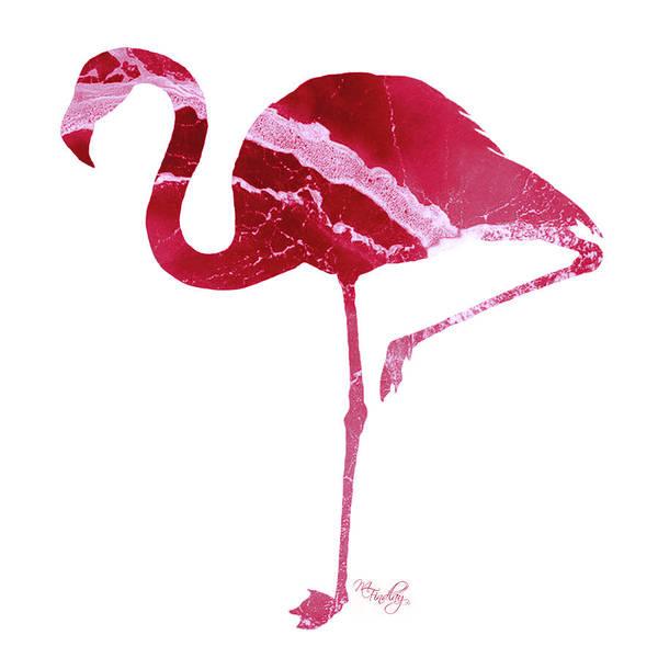 Digital Art - Art Sea Flamingo In Hot Pink by Micki Findlay