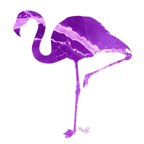 Photograph - Art Sea Flamingo In Purple by Micki Findlay