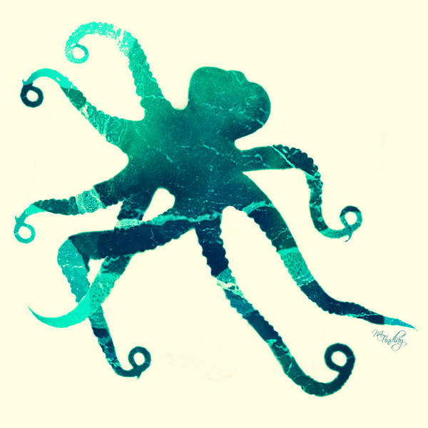 Digital Art - Art Sea Octopus In Seagreen by Micki Findlay