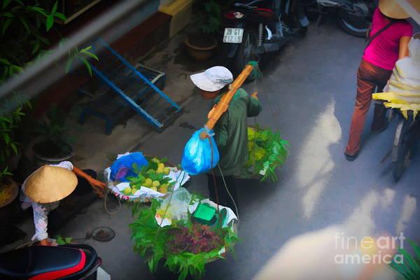 Wall Art - Digital Art - Art Streets Of Hanoi 3 Of 4 by Chuck Kuhn