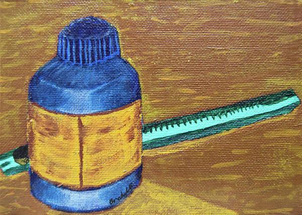 Wall Art - Painting - Art Supplies In Negative by Brady Burgener