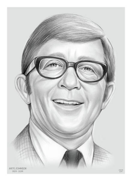 Wall Art - Drawing - Arte Johnson by Greg Joens