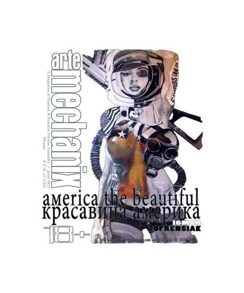 Mixed Media - arteMECHANIX 1913 AMERICA THE BEAUTIFUL GRUNGE by Jody Bronson
