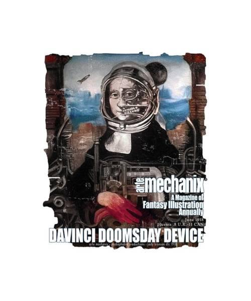 Mixed Media - arteMECHANIX 1918 DAVINCI DOOMSDAY DEVICE  GRUNGE by Jody Bronson