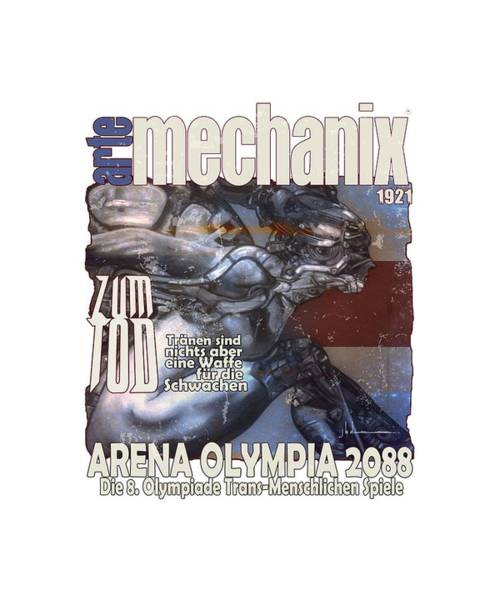 Mixed Media - arteMECHANIX 1921 ARENA  GRUNGE by Jody Bronson