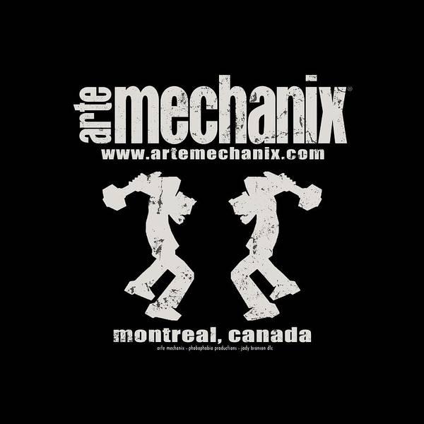 Mixed Media - arteMECHANIX OFFICIAL LOGO  GRUNGE by Jody Bronson