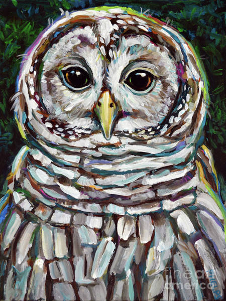Wall Art - Painting - Artemis, The Barred Owl by Robert Phelps