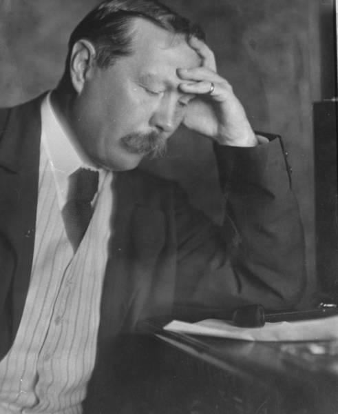 Conan Photograph - Arthur Conan Doyle by E. O. Hoppe