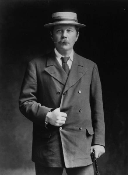 Straw Hat Photograph - Arthur Conan Doyle by London Stereoscopic Company