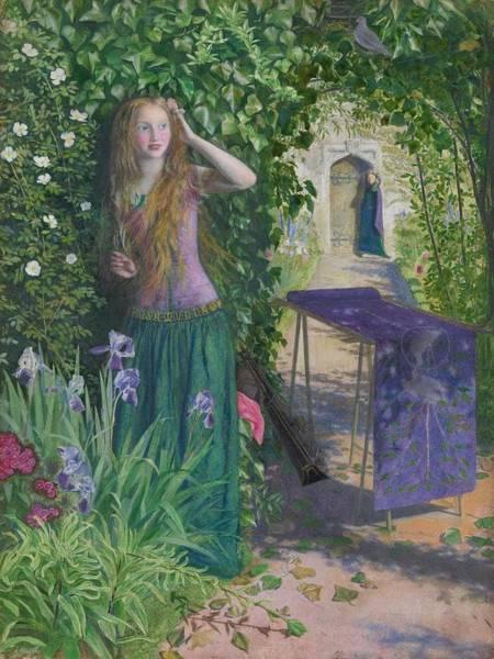 Wall Art - Painting - Arthur Hughes  1832-1915 Fair Rosamund - 1854 by Arthur Hughes