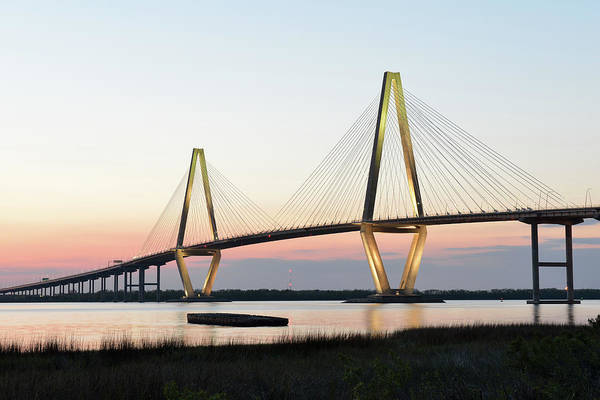 Southern Usa Photograph - Arthur Ravenel Jr Bridge At Sunset by Aimintang