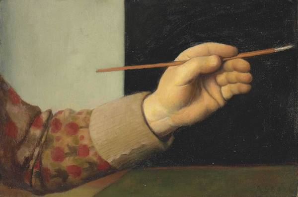 Wall Art - Painting - Arthur Segal  1857-1944  Hand Of The Artist With Brush by Arthur Segal