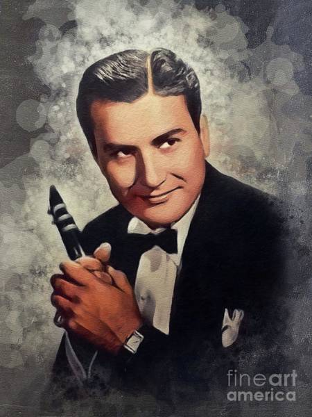 Wall Art - Painting - Artie Shaw, Music Legend by John Springfield