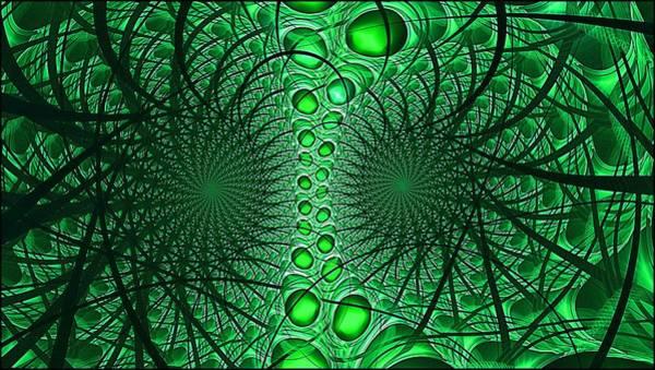 Digital Art - Artificial Intelligence Lime by Doug Morgan