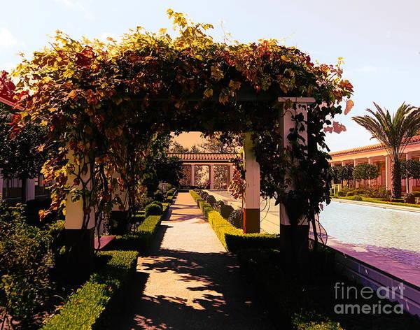J Paul Getty Photograph - Artistic Courtyard Getty Villa  by Chuck Kuhn