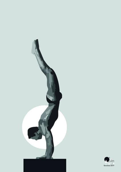 Sportsman Digital Art - Artistic Gymnastics by Joaquin Abella