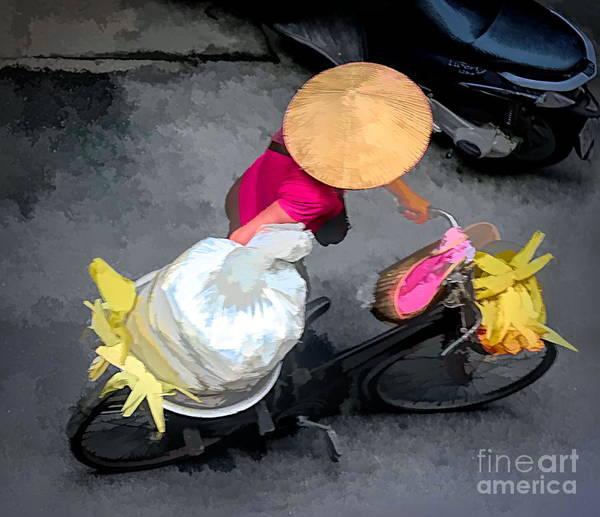 Wall Art - Digital Art - Artistic Streets Of Hanoi by Chuck Kuhn