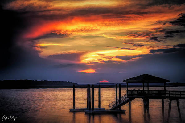 Lowcountry Digital Art - Artistic Sunset Silhouette by Phill Doherty