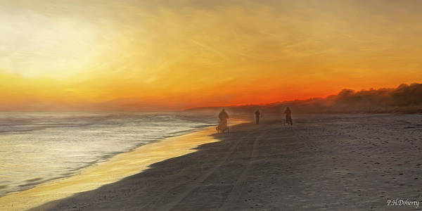 South Beach Digital Art - Artisticheadingintosunset by Phill Doherty