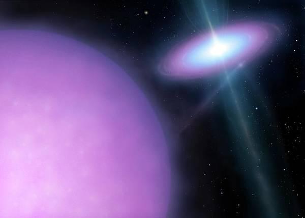 Space Exploration Digital Art - Artwork Of Binary Star System Ss433 by Mark Garlick/spl