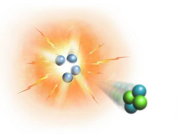 Reaction Wall Art - Digital Art - Artwork Of Nuclear Fusion Reaction by Mark Garlick