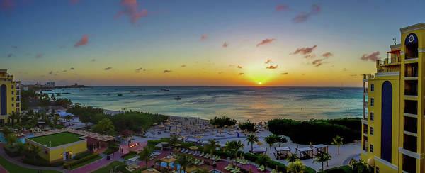 Photograph - Aruban Sunset Panoramic by Scott McGuire