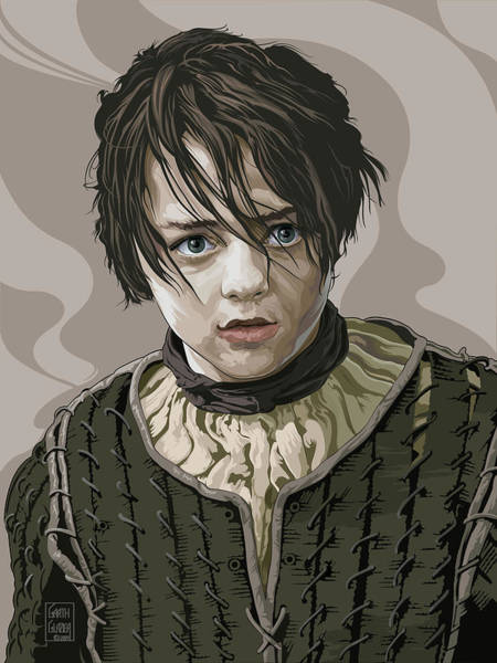 Wall Art - Digital Art - Arya Stark by Garth Glazier