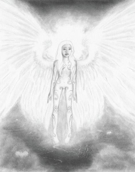 As An Angel She Realized Why - Artwork Art Print