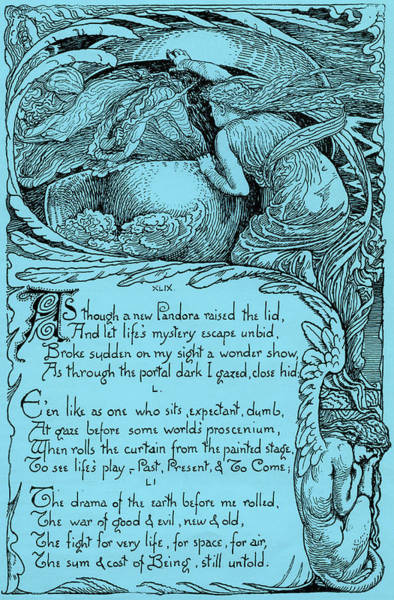 Wall Art - Drawing - As Though A New Pandora Raised The Lid by Walter Crane