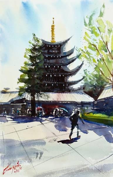 Ginza Wall Art - Painting - Asakusa Sensoji Temple by James Nyika