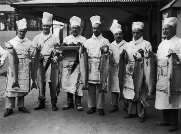 Apron Photograph - Ascot Chefs by Brooke