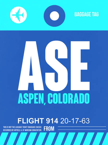 Wall Art - Digital Art - Ase Aspen Luggage Tag II by Naxart Studio